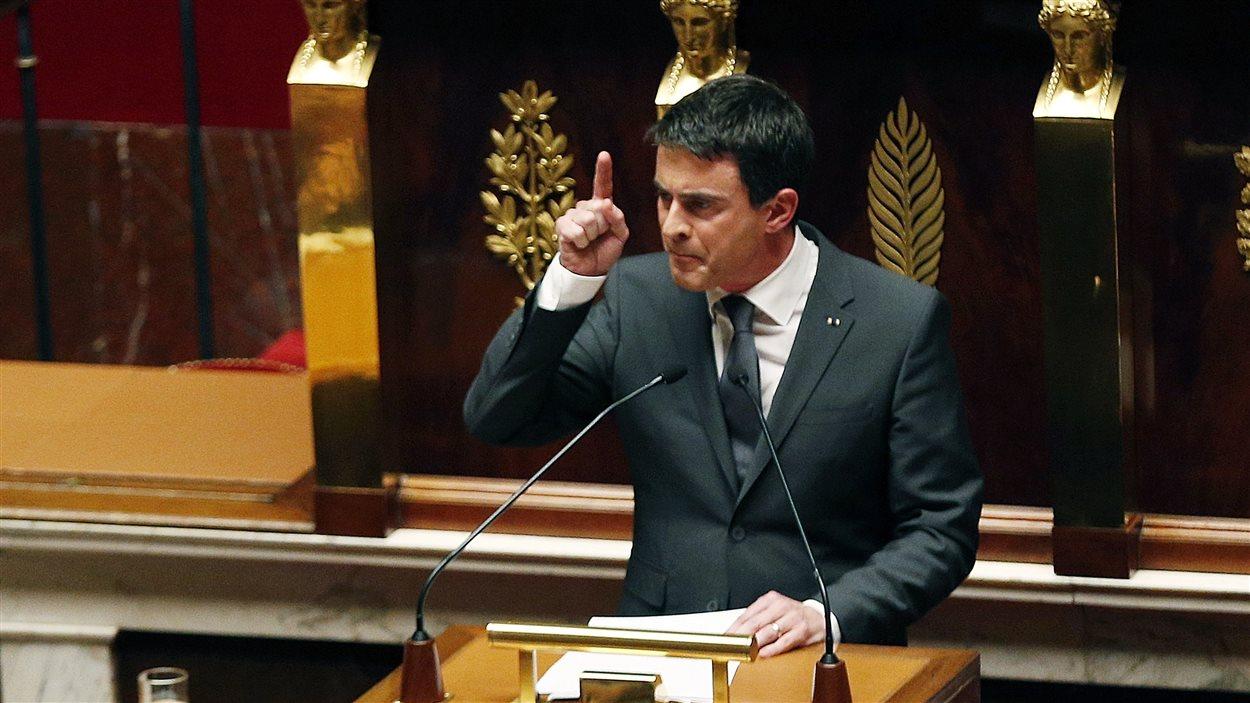 Le premier ministre français Manuel Valls a livré un discours passionné à l'Assemblée nationale.
