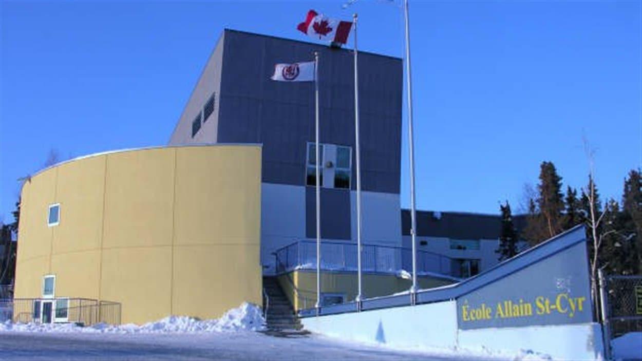 L'École Allain St-Cyr, à Yellowknife, en 2011.