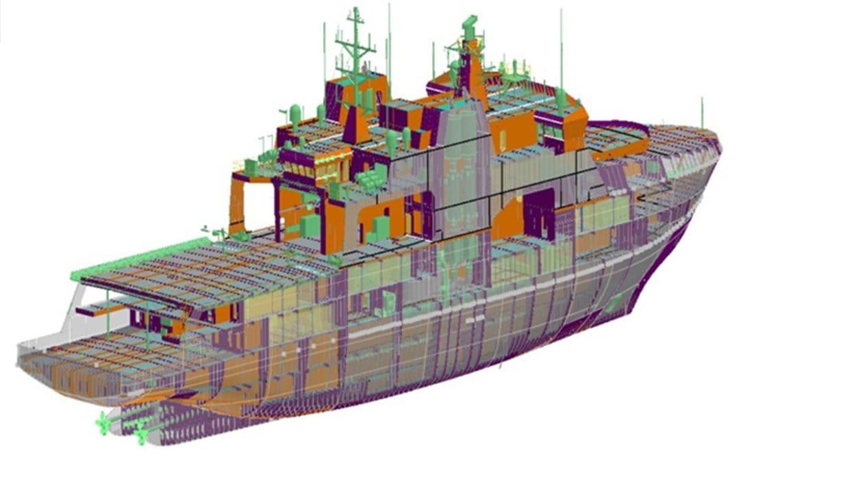 Modèle de navire de patrouille extracôtier et de l'Arctique de la compagnie Irving Shipbuilding Inc.