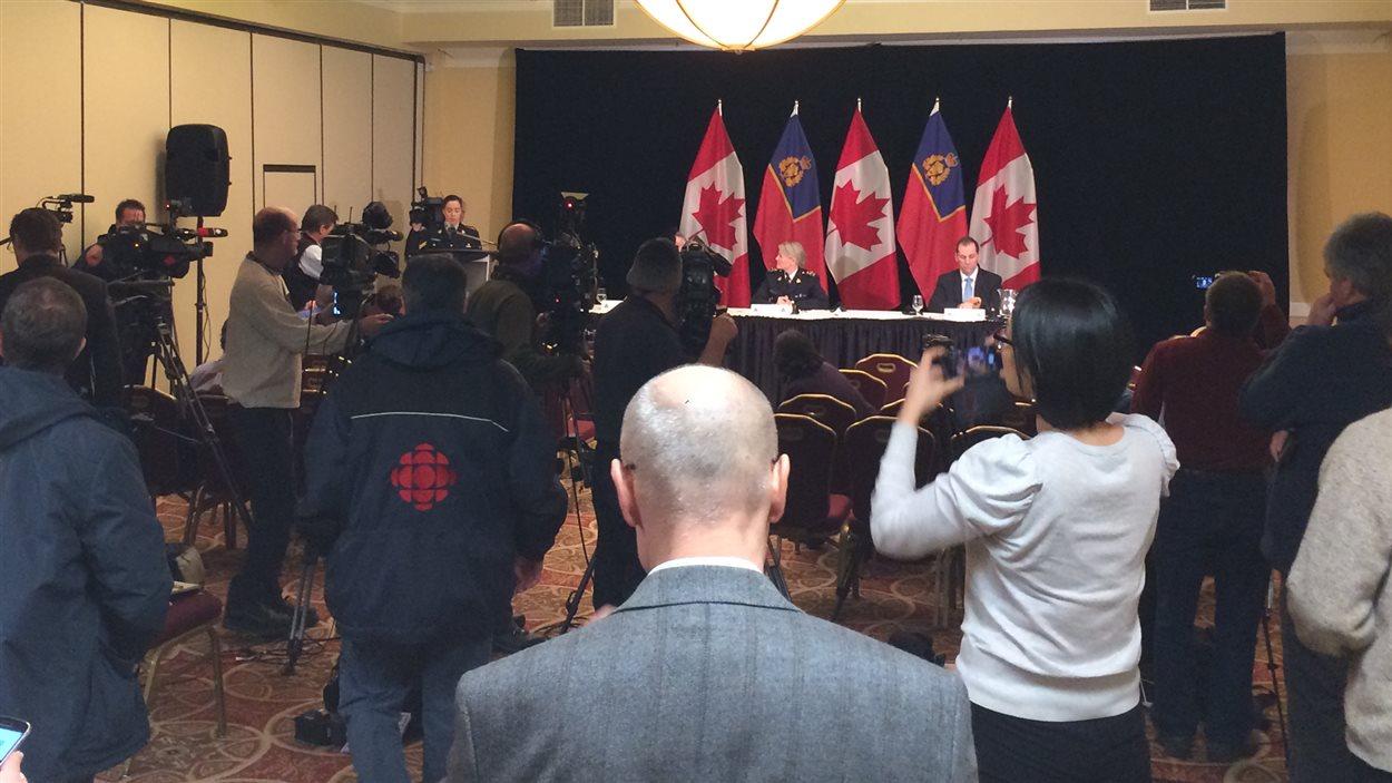 Conférence de presse dans le cadre du dépôt du rapport de la GRC.