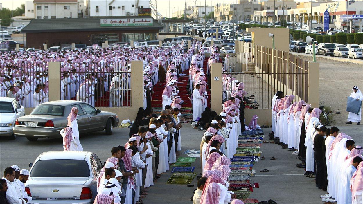 Prière à Riyad, la capitale, lors du ramadan en septembre 2009