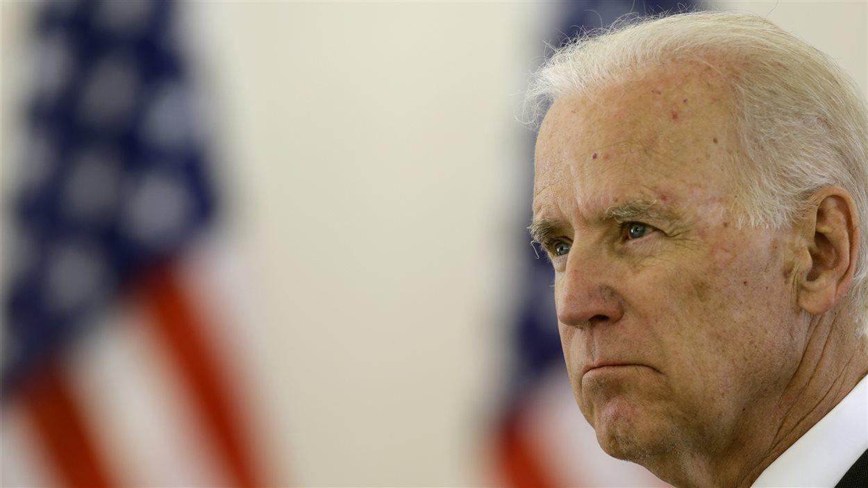Le vice-président des États-Unis, Joe Biden, lors d'une conférence de presse.