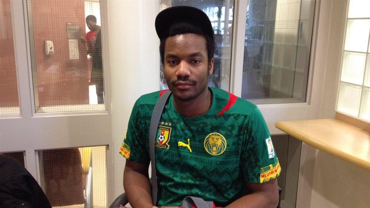 Lionel Njeukam, un étudiant de l'Université de Saint-Boniface d'origine camerounaise