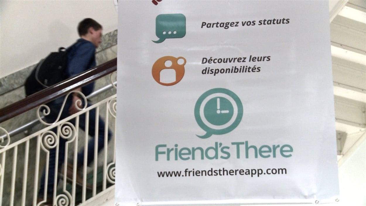 Le Collège Lionel-Groulx appuie Mathieu Tousignant et son équipe dans la promotion de l'application Amila ou Friend's There.