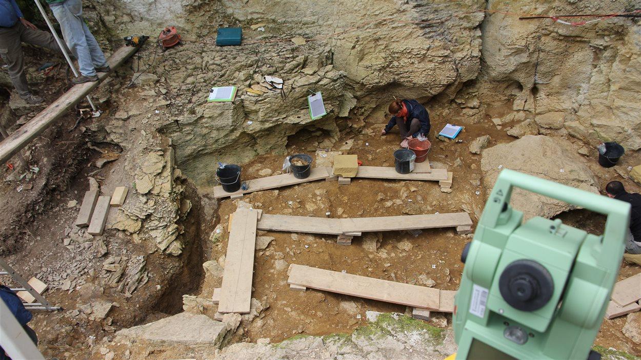 Le site archéologique de la Grotte du Bison en France