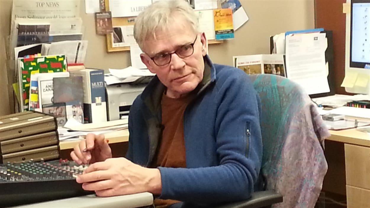 Norman Dugas était responsable de la technique durant le café citoyen.