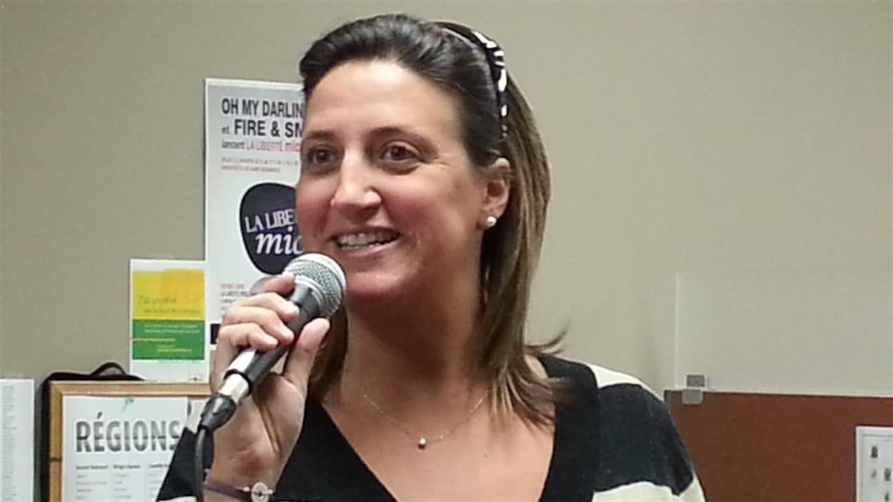 Sophie Gaulin, rédactrice en chef à l'hebdomadaire manitobain, La Liberté