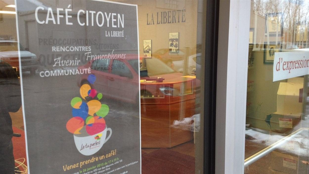 Le premier café citoyen de l'hebdomadaire La Liberté, dans le cadre des États généraux de la francophonie manitobaine 2015, a eu lieu dans ses locaux à Saint-Boniface.