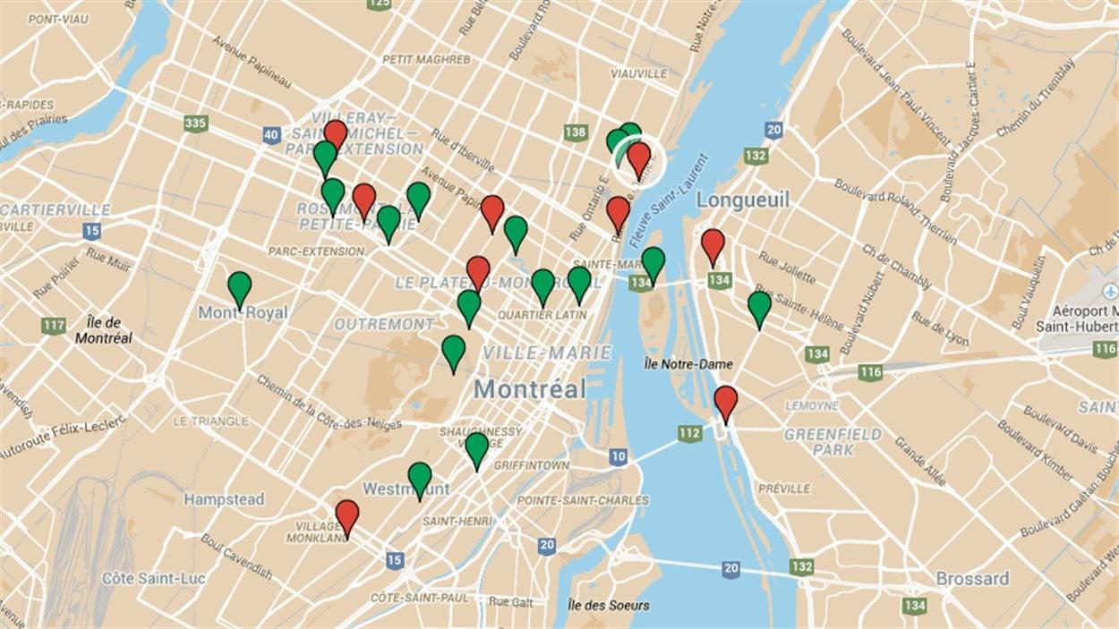 Carte des recommandations des citoyens pour le vélo d'hiver