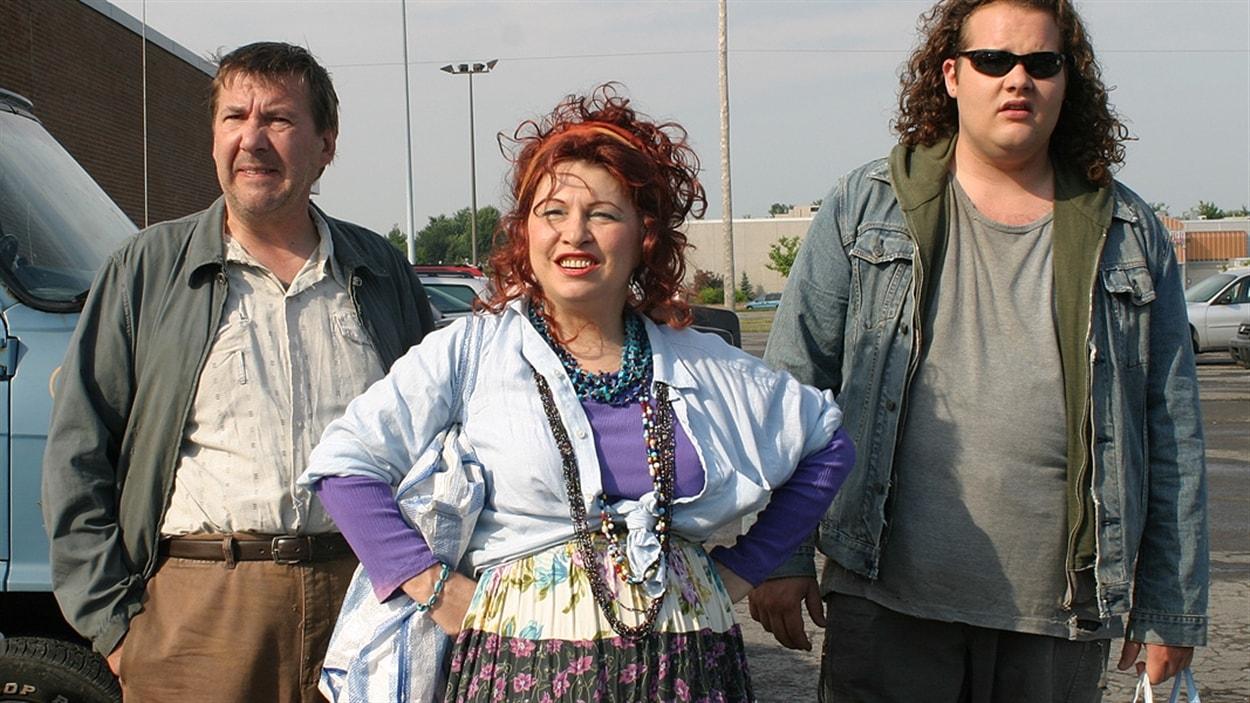 Une scène de la série <i>Les Bougon : c'est aussi ça la vie</i>, diffusée à ICI Radio-Canada Télé de 2004 à 2006, qui racontait les péripéties d'une famille issue des milieux populaires.