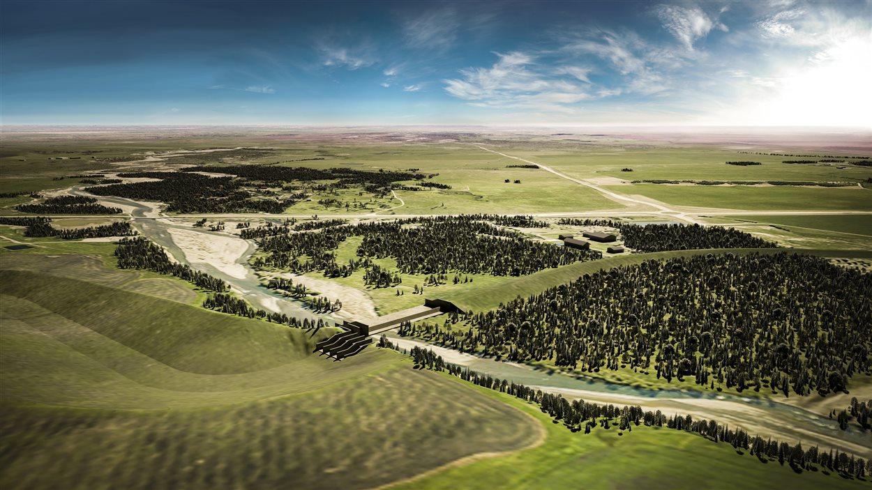 Le réservoir Springbank permettrait de contenir des millions de mètres cubes d'eau provenant de la rivière Elbow.