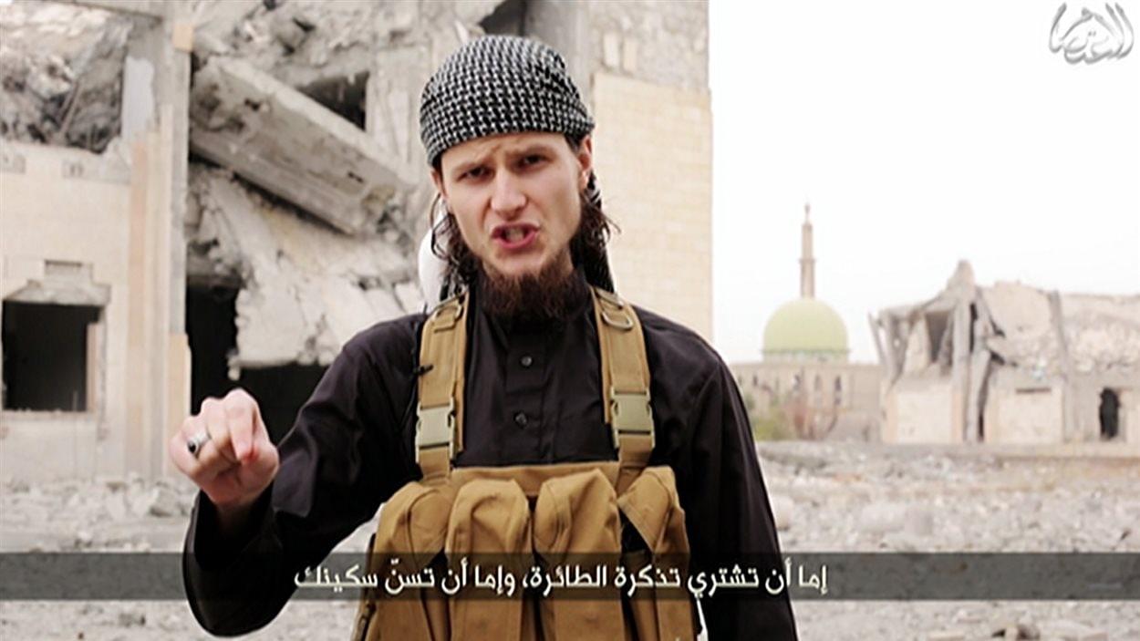 Vidéo dans laquelle un djihadiste appelle au terrorisme.
