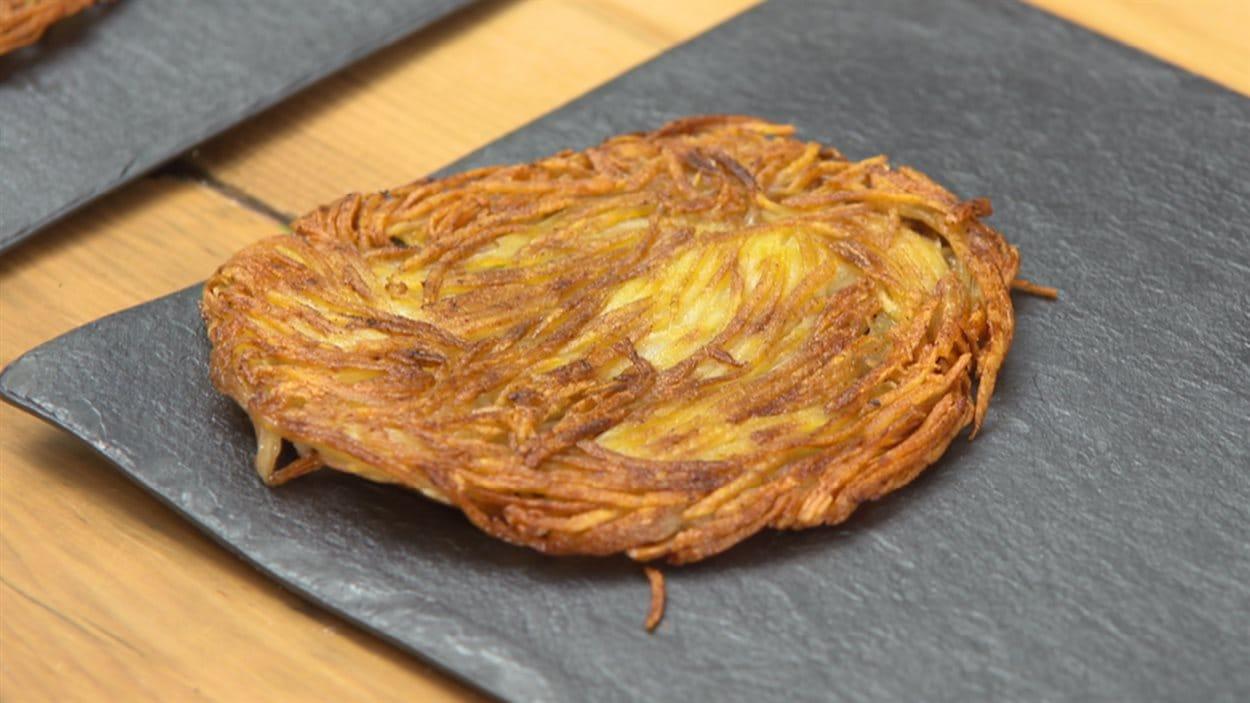 Recette de paillasson de pommes de terre