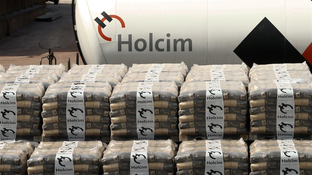 Sacs de poudre de ciment Holcim