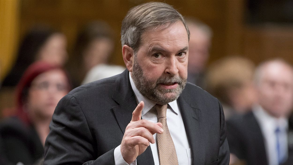 Le chef du NPD Thomas Mulcair aux Communes