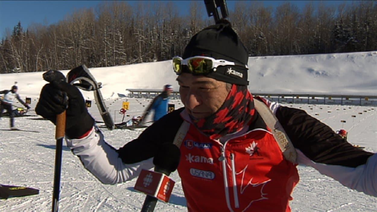 Jean Bédard participe aux Jeux d'hiver des maîtres en biathlon