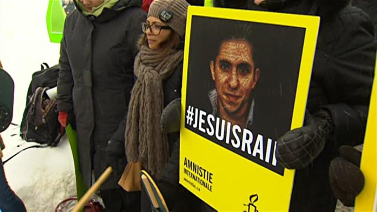 Mobilisation à Sherbrooke pour la libération de Raif Badawi