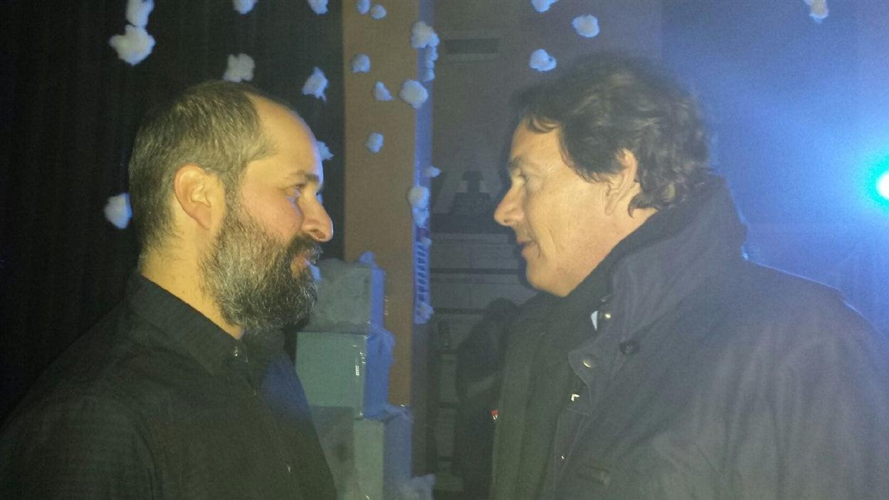 Sandy Boutin et Pierre Karl Péladeau lors du spectacle de Groenland.