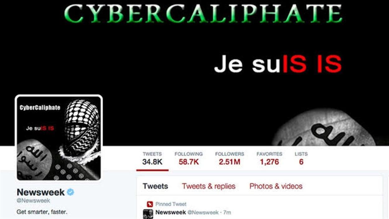 Le compte Twitter de Newsweek piraté.