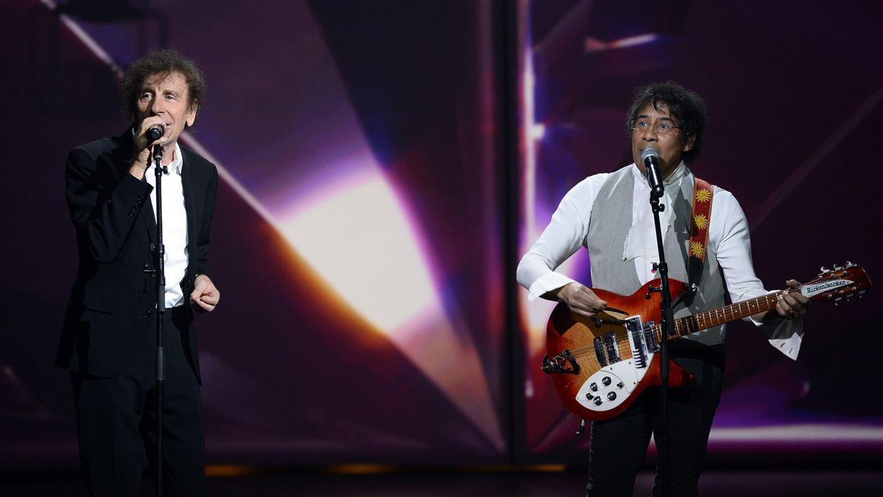 Alain Souchon et Laurent Voulzy aux Victoires de la musique 2015