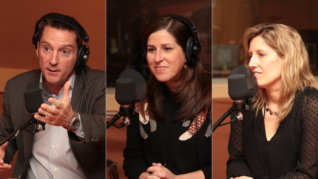 Patrice Roy, Ève Tessier-Bouchard et Nadia Gagnier