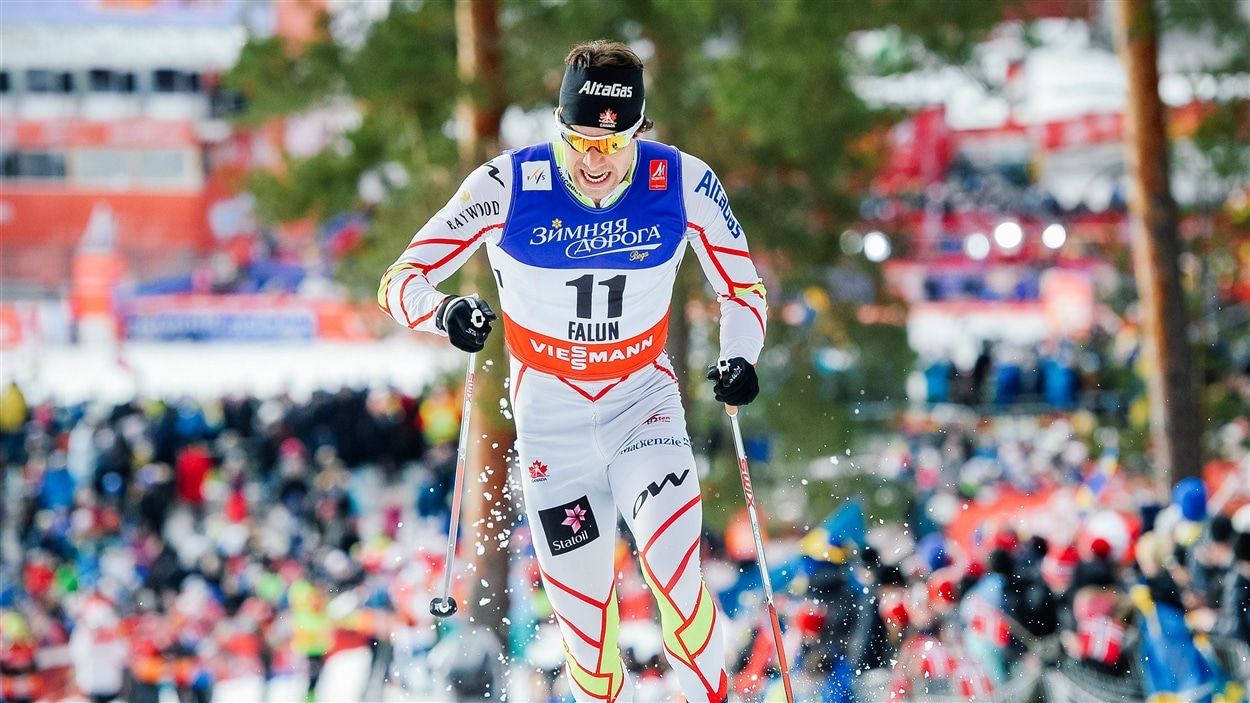 Alex Harvey, lors des qualifications du sprint classique à Falun