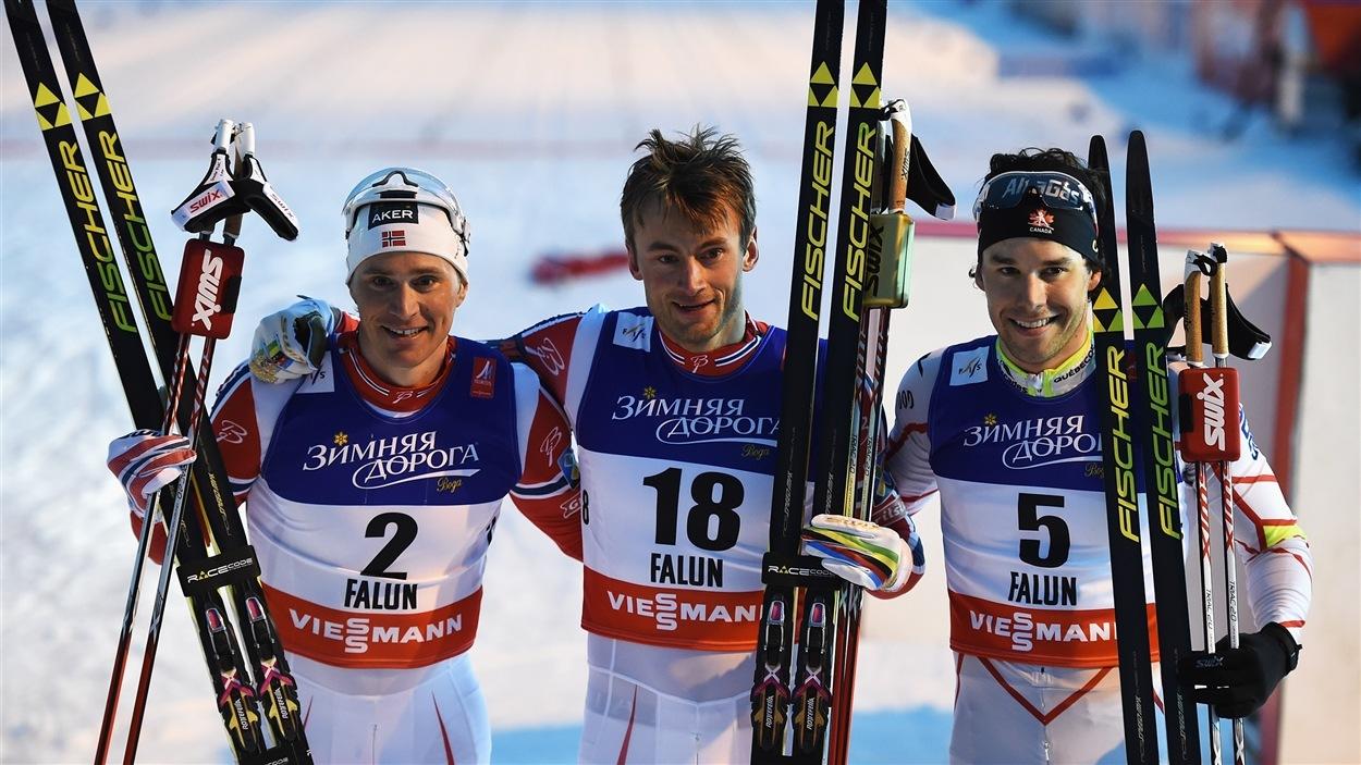 Les Norvégiens Ola Vigen Hattestad (bronze), Petter Northug (or) et le Canadien Alex Harvey (argent)
