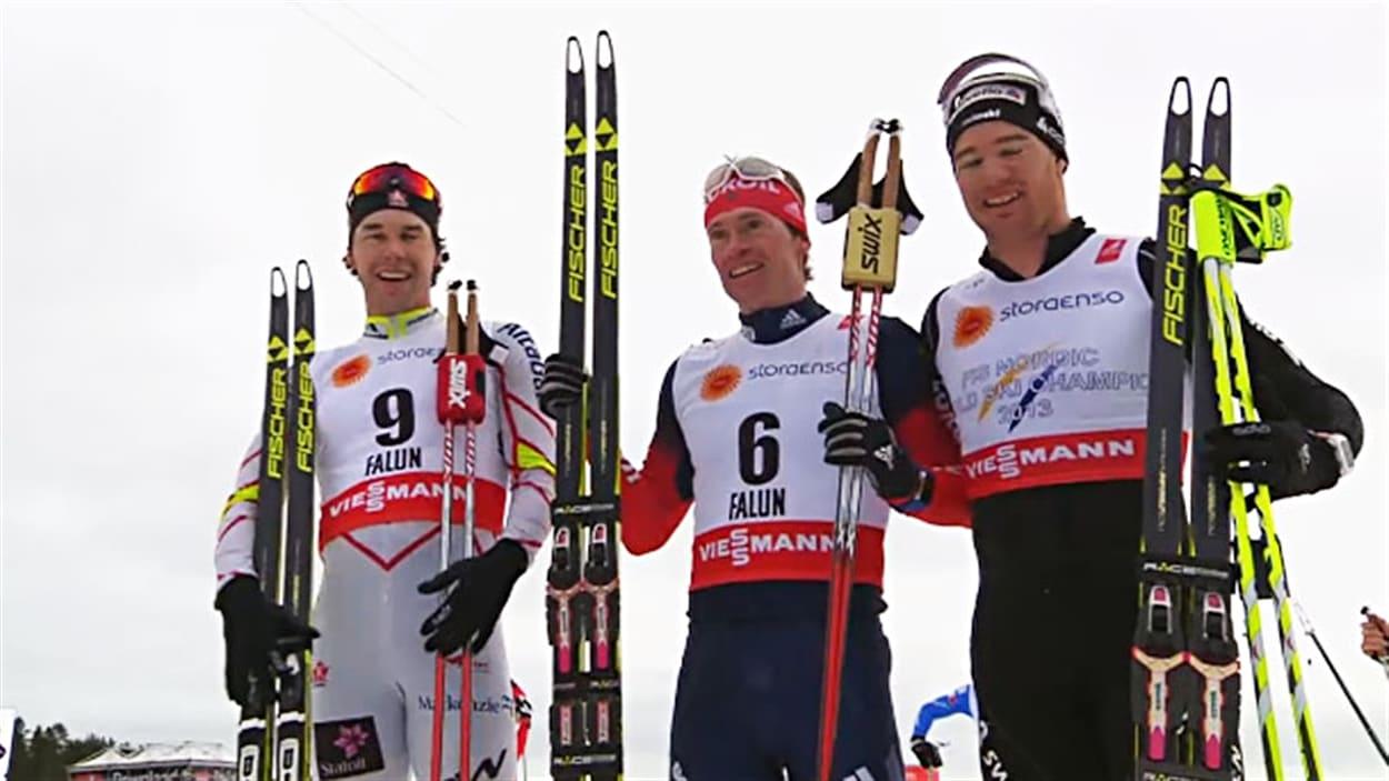 Alex Harvey 3e du skiathlon des Championnats du monde de Falun