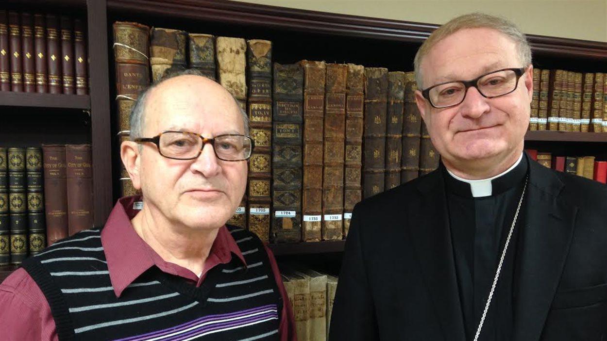 Albert Dugas et Mgr Daniel Jodoin