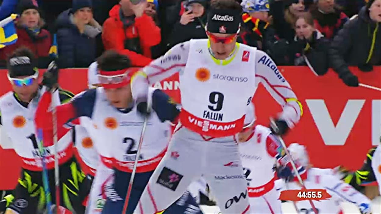 Alex Harvey dans le skiathlon de Falun