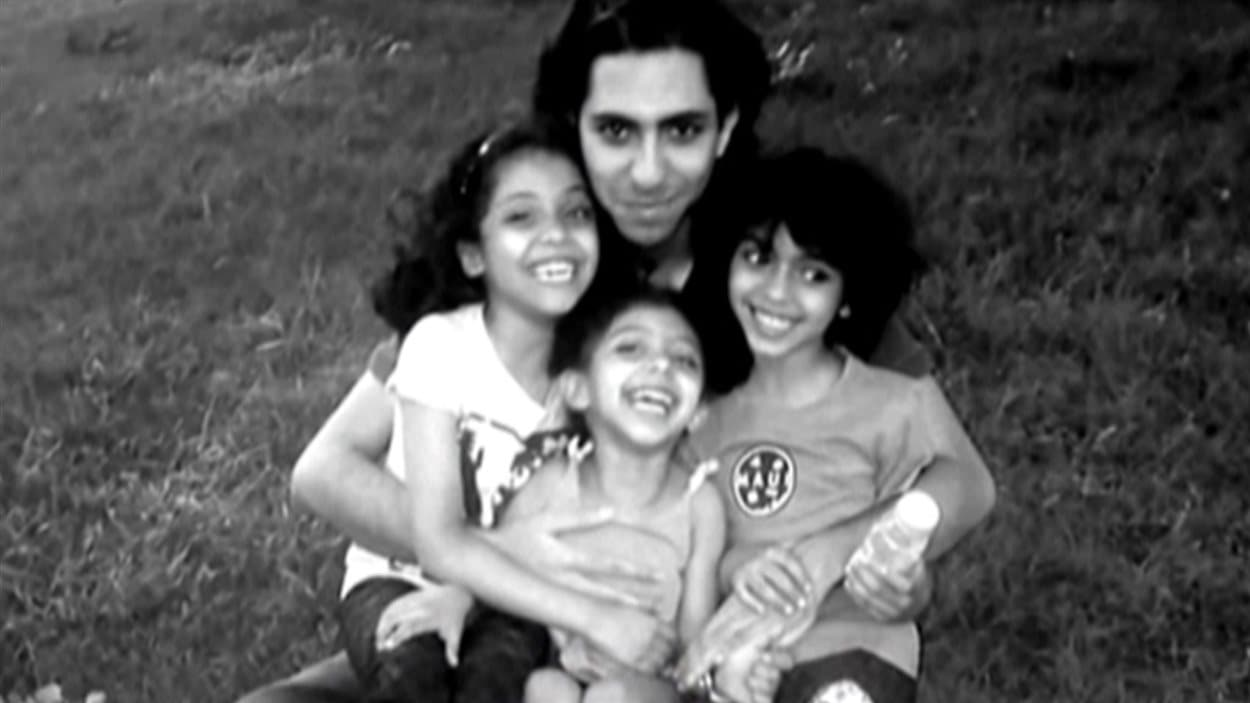Raïf Badawi et ses enfants