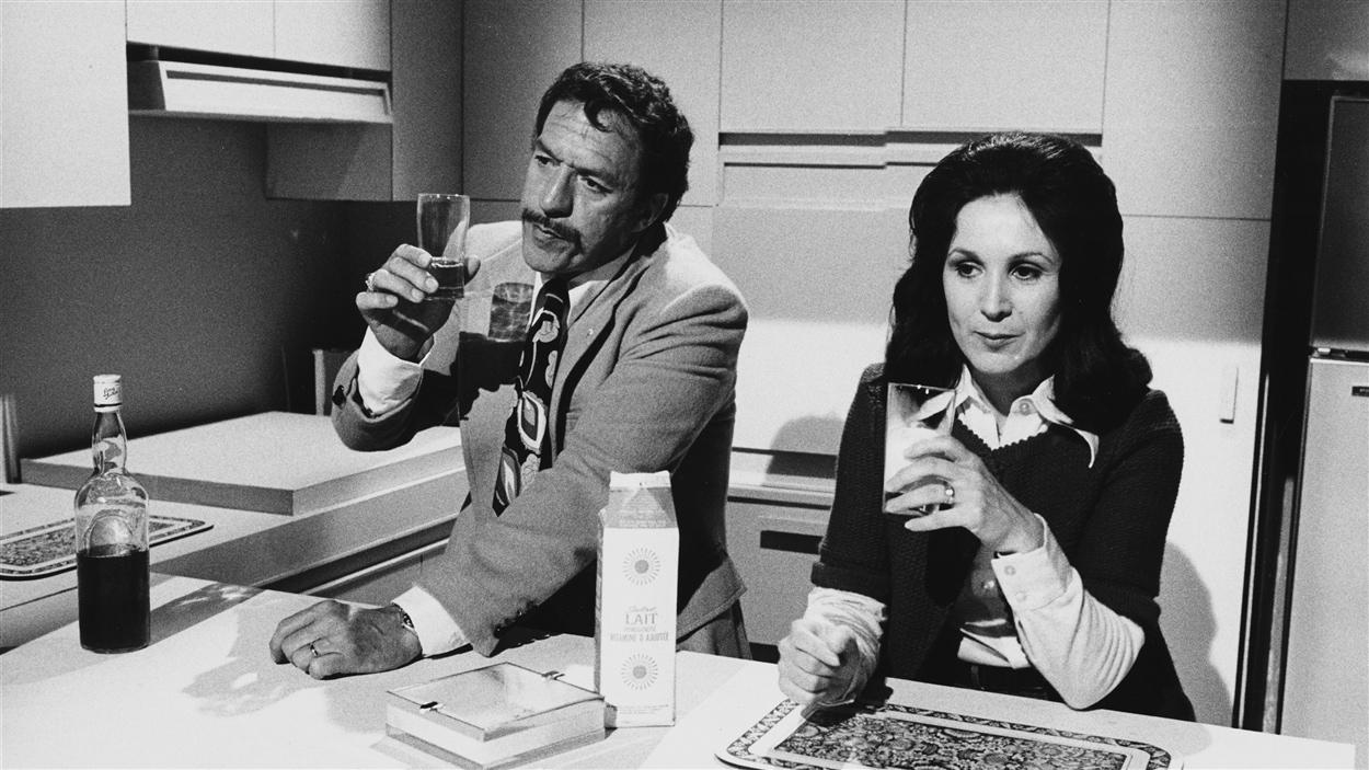 Albie (Jacques Godin) et Edna (Rita Lafontaine) dans « Edna ou la contradiction » en 1975.