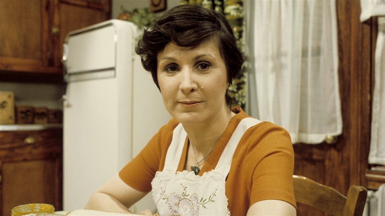 Martine Lamontagne (Rita Lafontaine), personnage du téléroman « Grand-papa » en 1976.