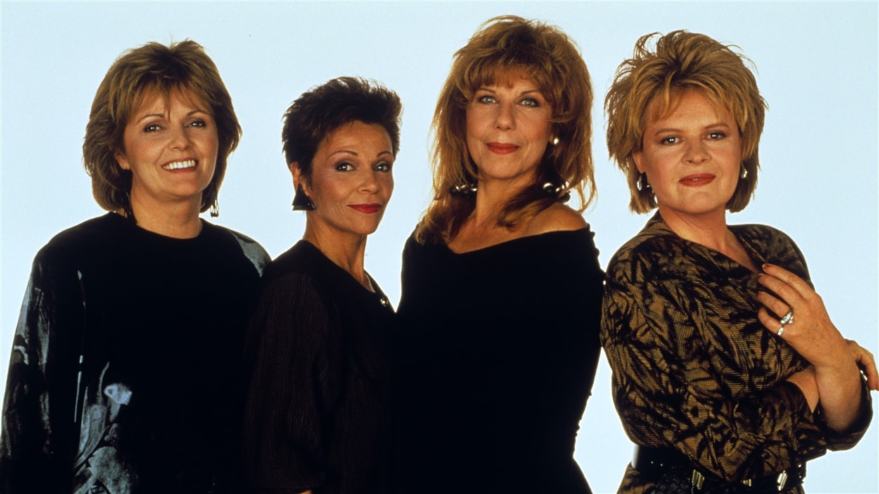 « Des dames de coeur » avec Louise Rémy, Andrée Boucher, Michelle Rossignol et Luce Guilbeault.