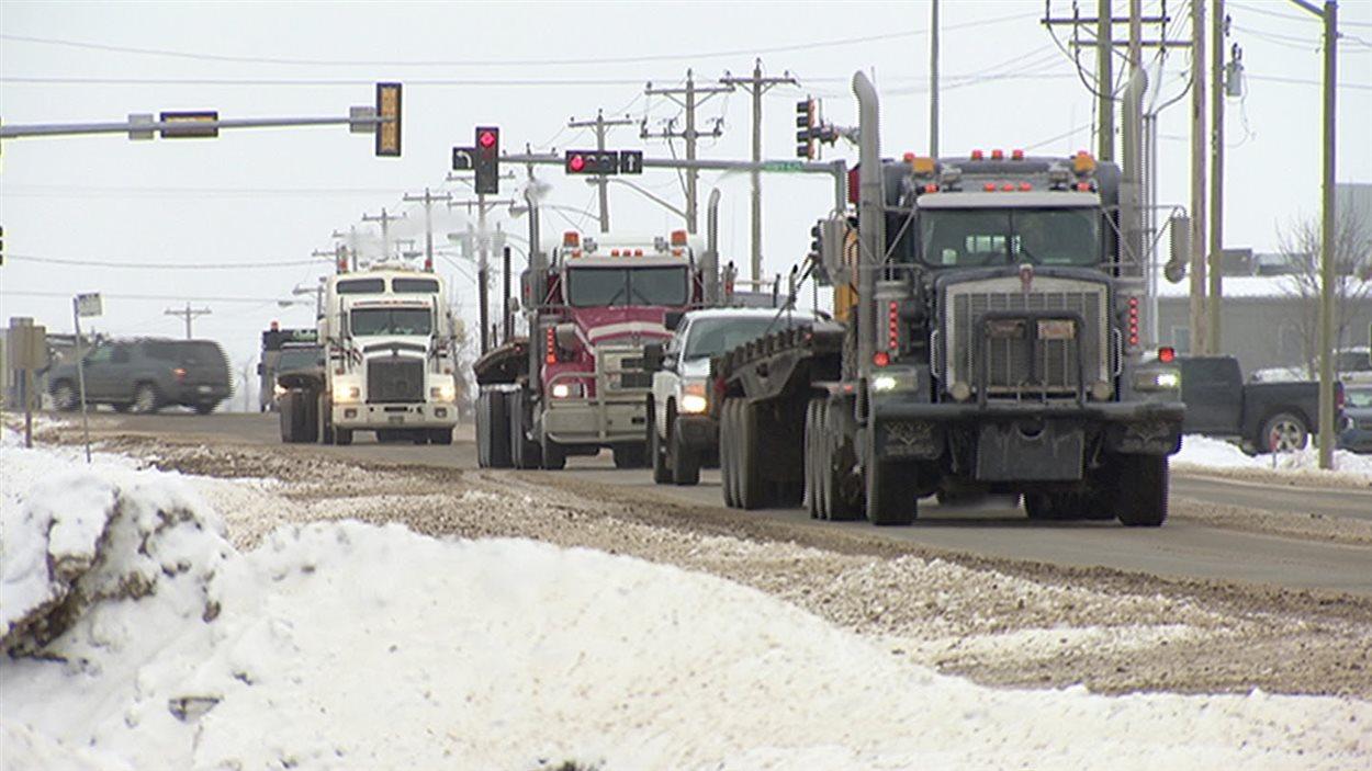Camions à Nisku, en Alberta