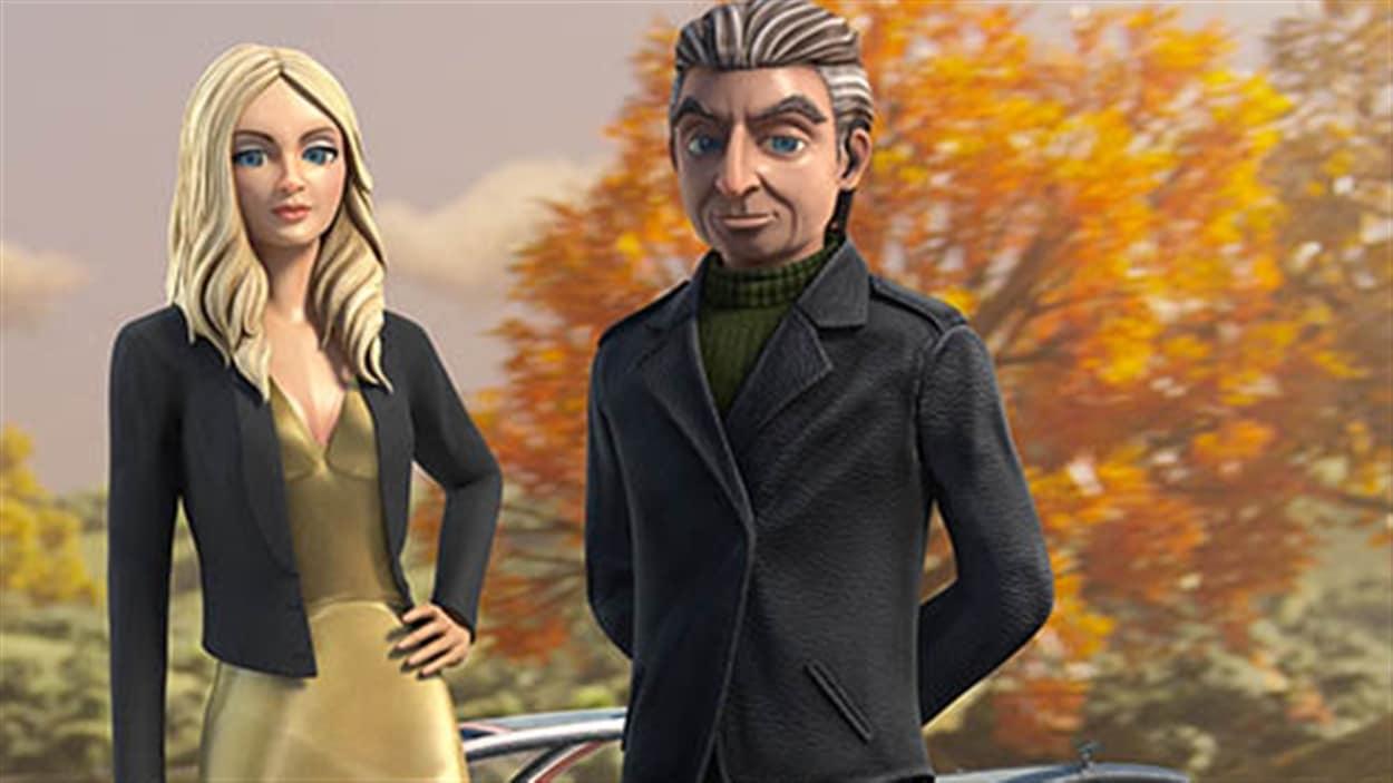 Lady Penelope et Parker dans la série « Les sentinelles de l'air ».