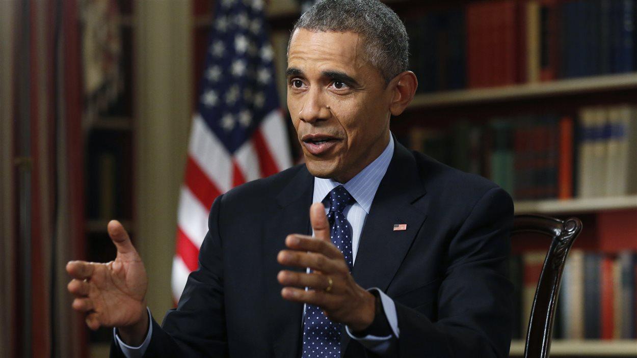 Barack Obama, lors d'une entrevue exclusive avec l'agence Reuters, le 2 mars 2015.
