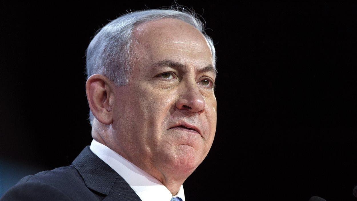 Le premier ministre israélien Benyamin Nétanyahou, lors de son discours devant l'AIPAC, lundi.