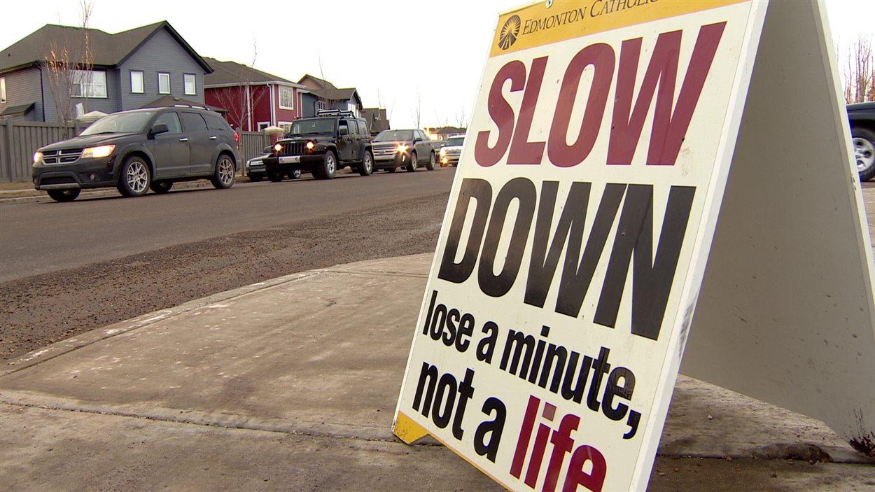 Campagne contre la vitesse en zone scolaire