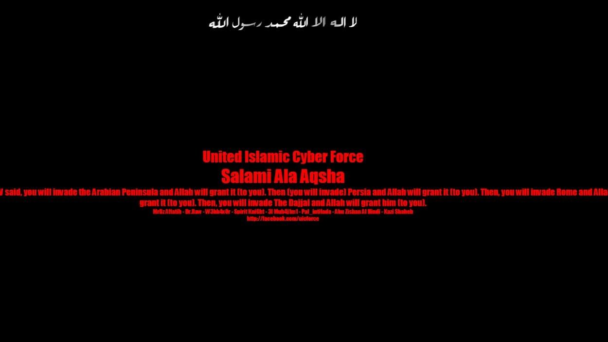 La page d'accueil du site Internet du Bloc québécois a été remplacée par un message islamiste.