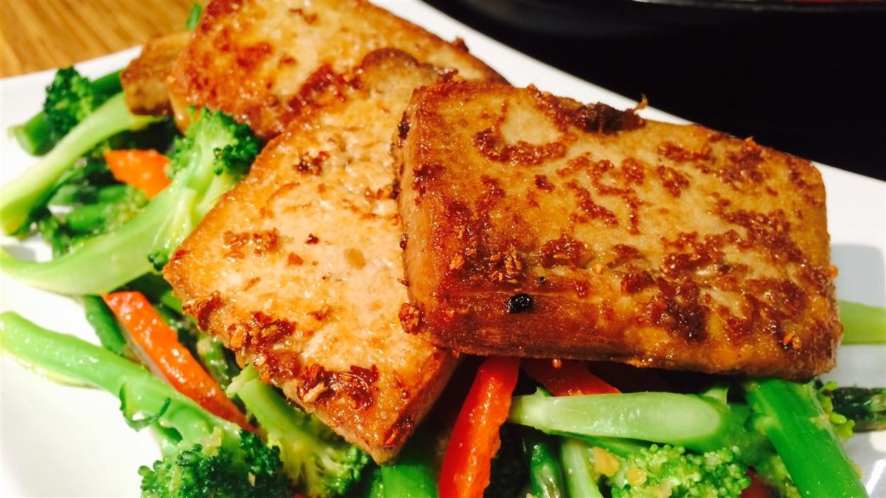 Tofu au gingembre