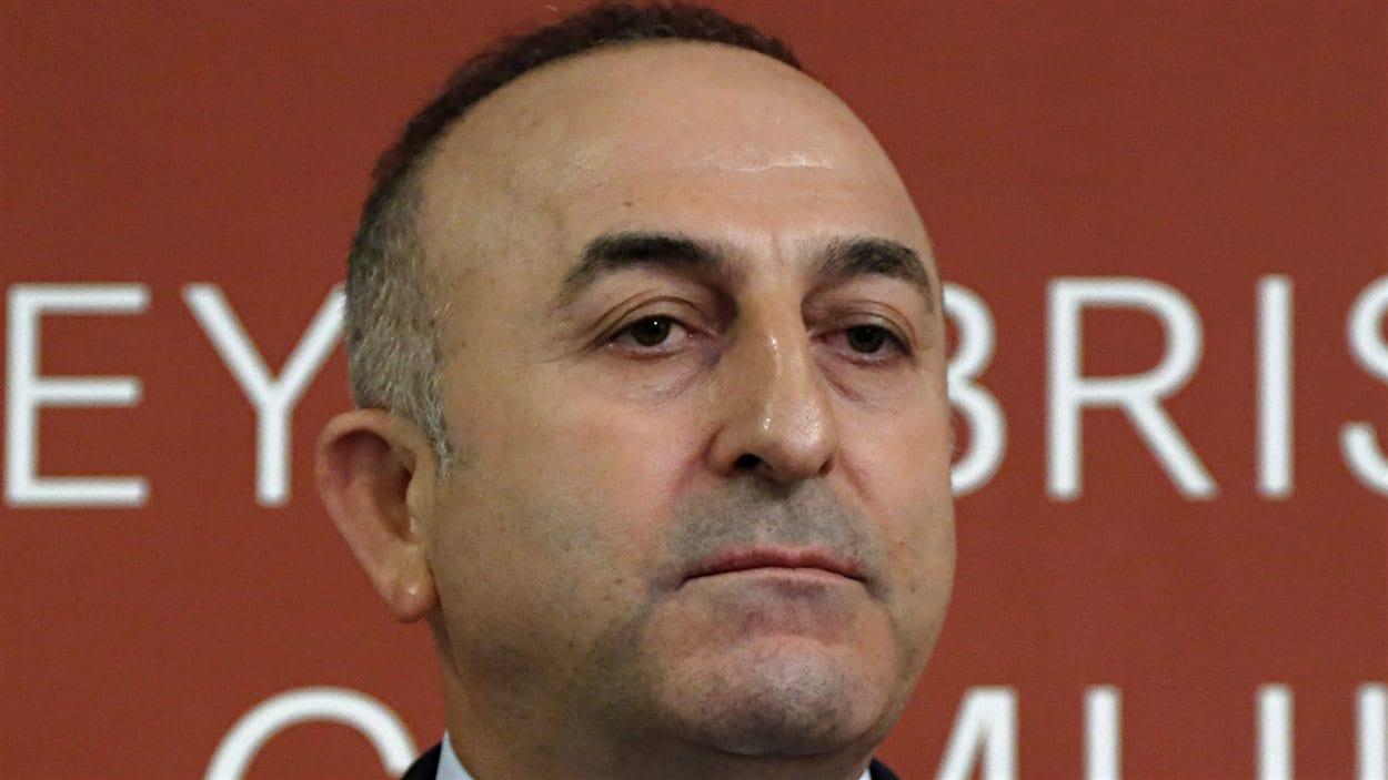 Le ministre des Affaires étrangères de la Turquie, Mevlut Cavusoglu
