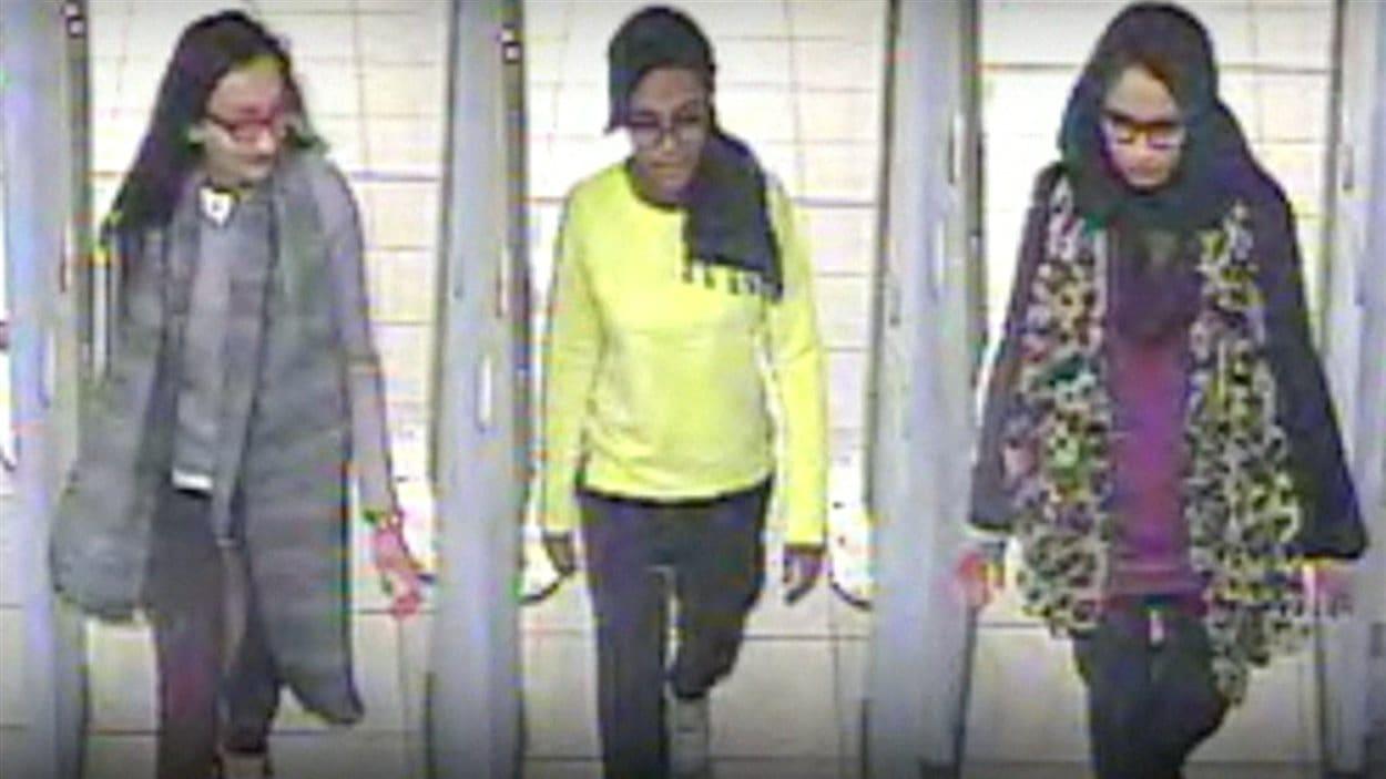 Les trois jeunes filles britanniques qui auraient joint les rangs de l'État islamique (EI)