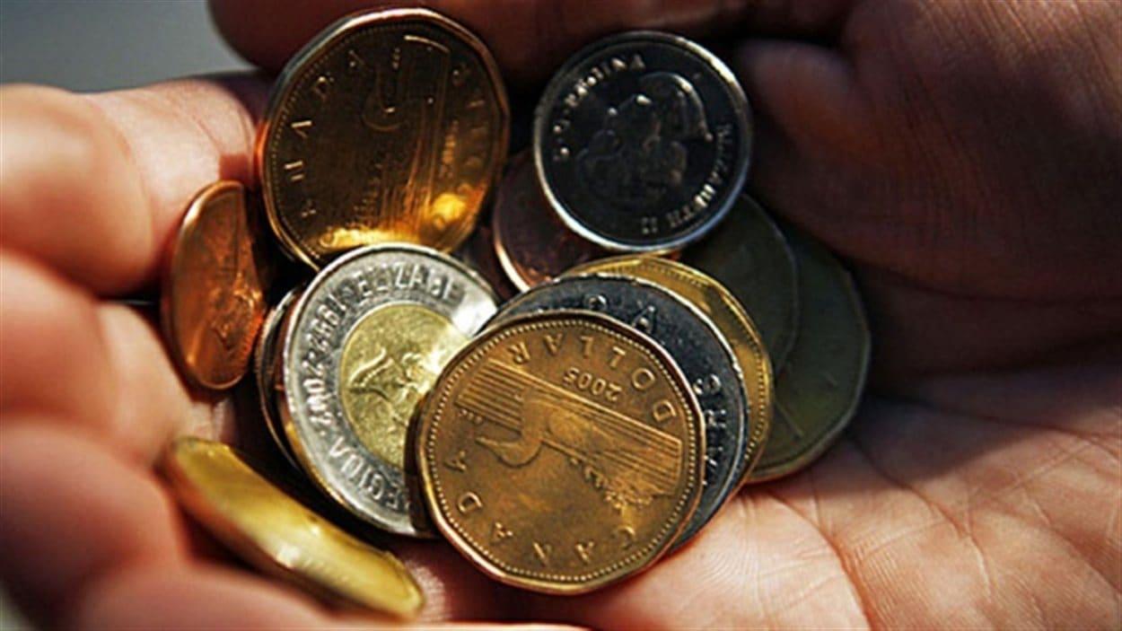 Des pièces de monnaies canadiennes