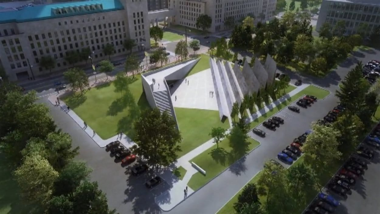 Vue aérienne du futur Monument aux victimes du communisme.