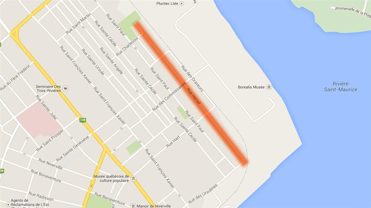 La rue Hertel, dans le quartier Sainte-Cécile à Trois-Rivières