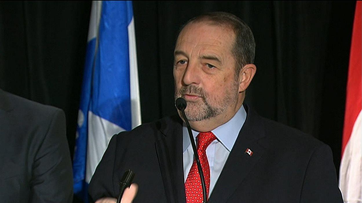 Le lieutenant politique de Stephen Harper au Québec, Denis Lebel