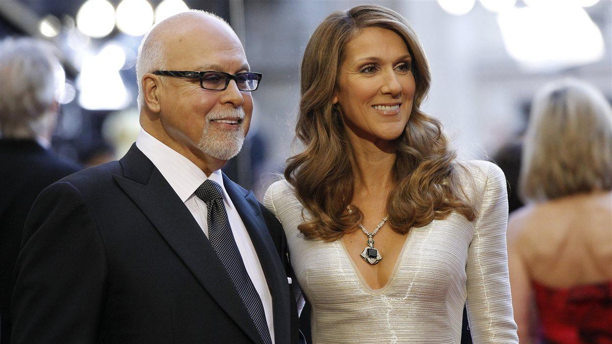 René Angelil en compagnie de son épouse et célèbre chanteuse Céline Dion. Radio-Canada.