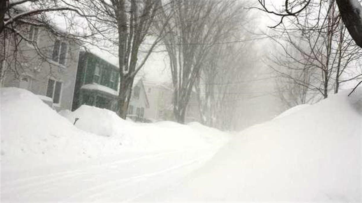 Tempête de neige en Nouvelle-Écosse