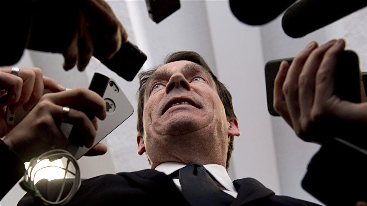 Le candidat à la direction du Parti québécois, Pierre Karl Péladeau.